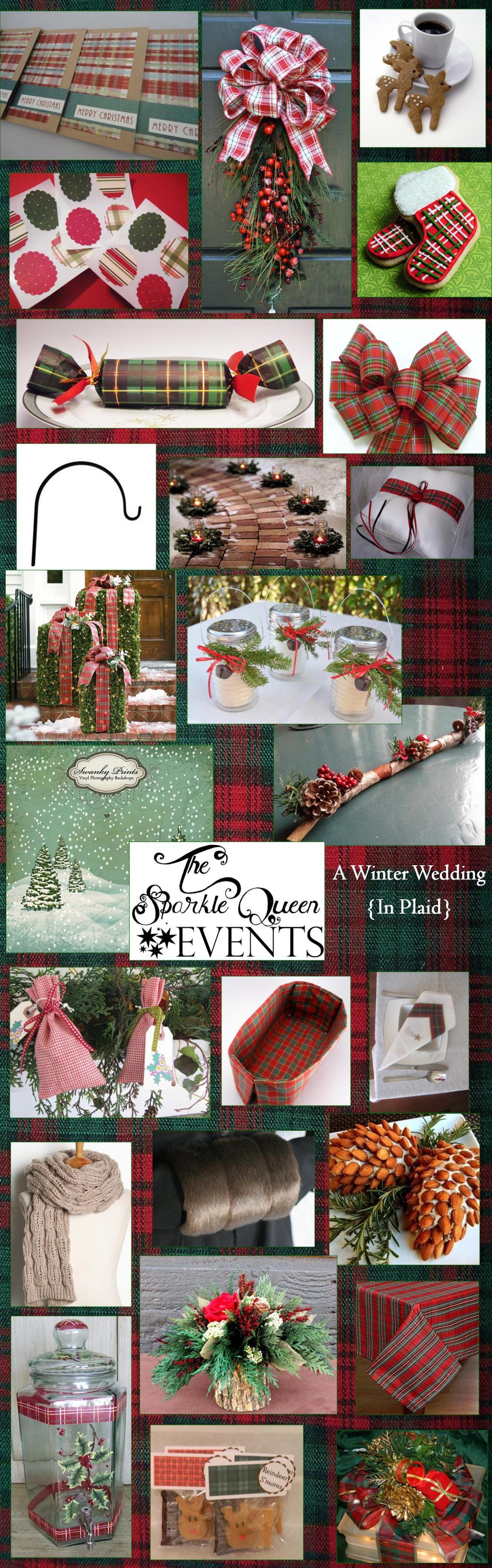 A Christmas Wedding {In Plaid}