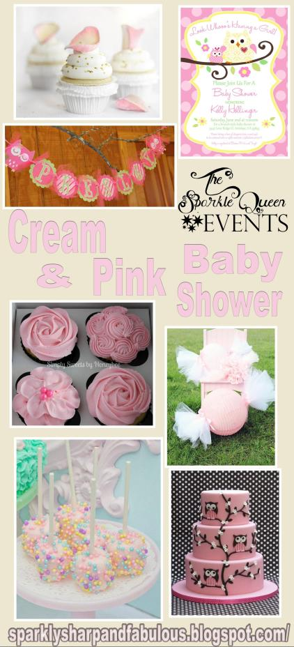 Cream and Pink Baby Shower
