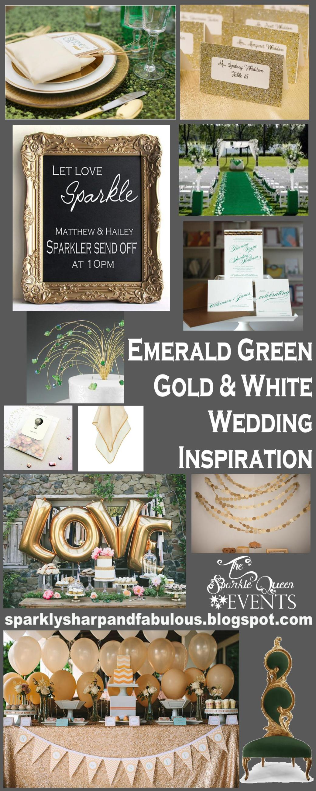 http://sparklysharpandfabulous.blogspot.com/2013/06/emerald-green-gold-and-white-wedding_26.html