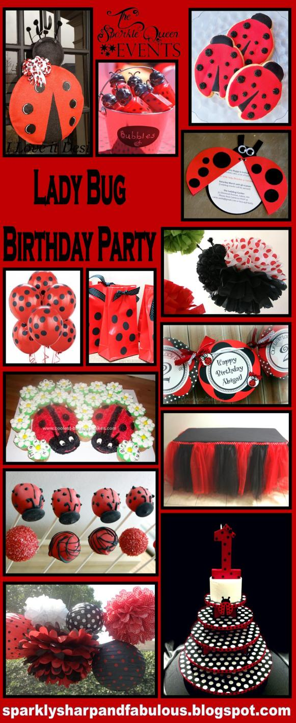Lady Bug Birthday Party Ideas