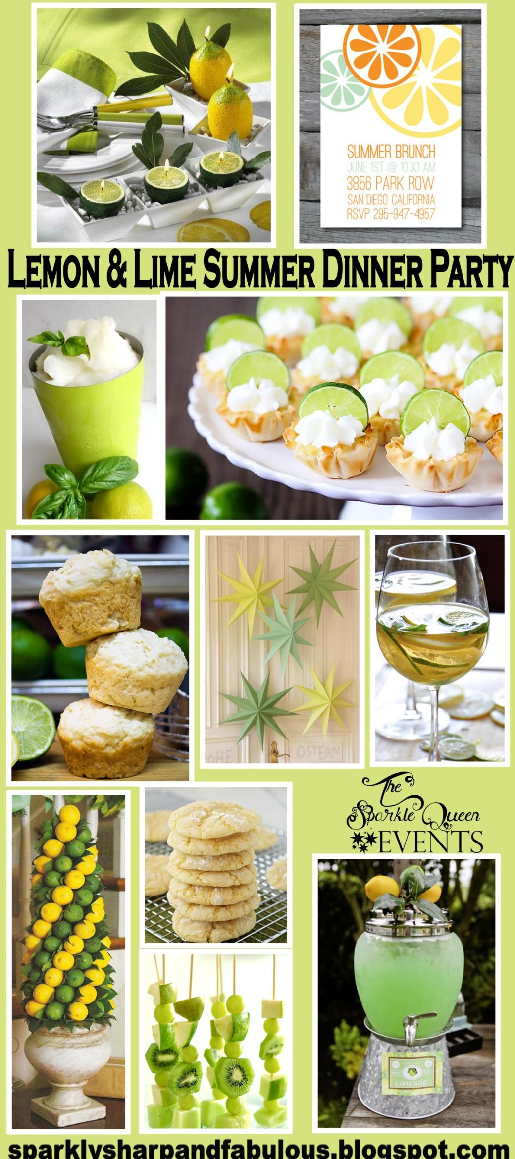 Lemon and Lime Summer Dinner Party