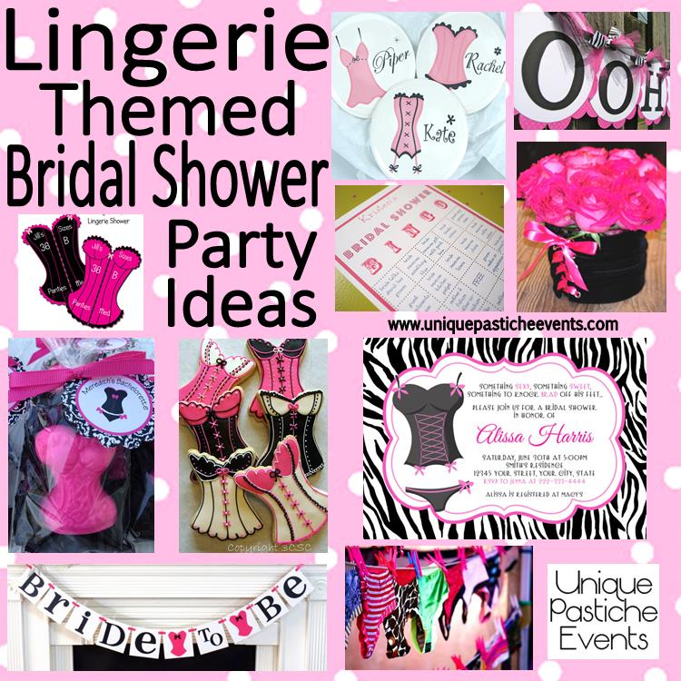 lingerie bridal shower ideas in pink and black unique pastiche events