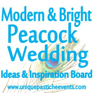 Modern & Bright Peacock Wedding Ideas