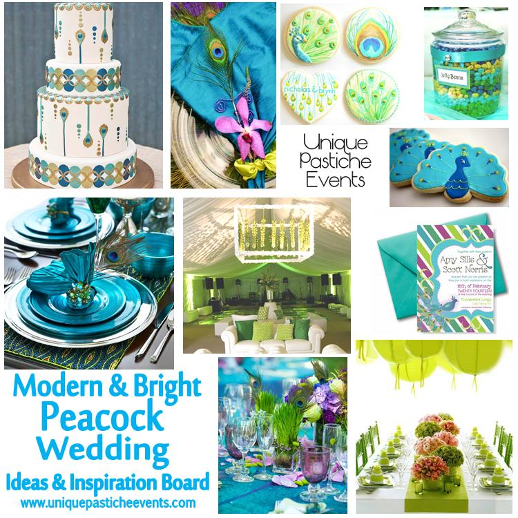 Modern and Bright Peacock Wedding Ideas See more details about it here: https://uniquepasticheevents.com/2013/07/31/modern-bright-peacock-wedding-ideas/