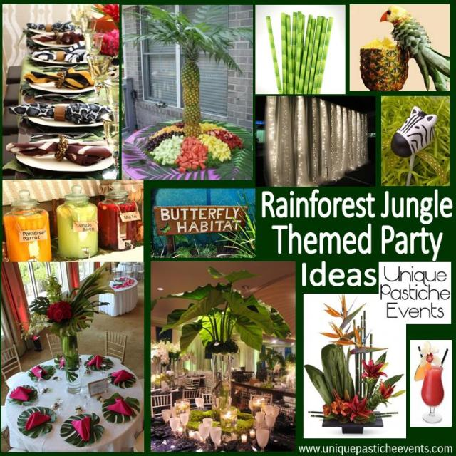 Rainforest Jungle Themed Fundraiser Party Inspiration
