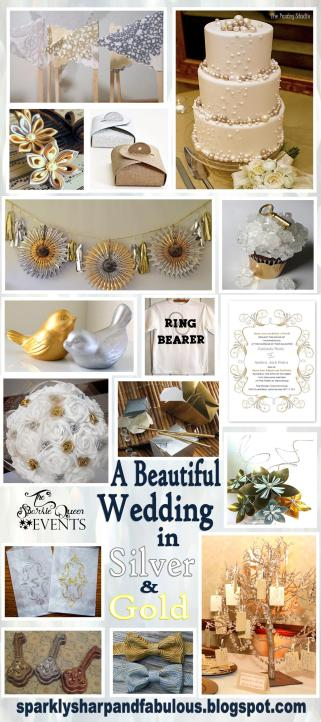 Silver and Gold Wedding Inspiration