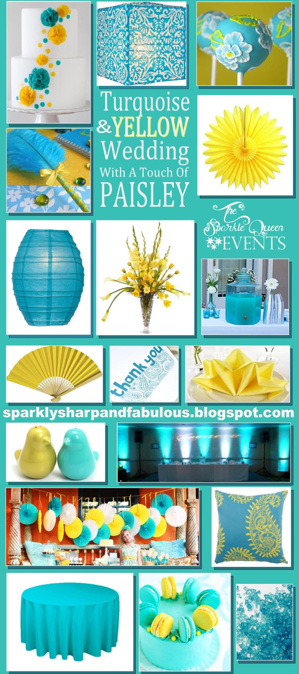 Turquoise and Yellow Wedding {with a hint of PAISLEY}