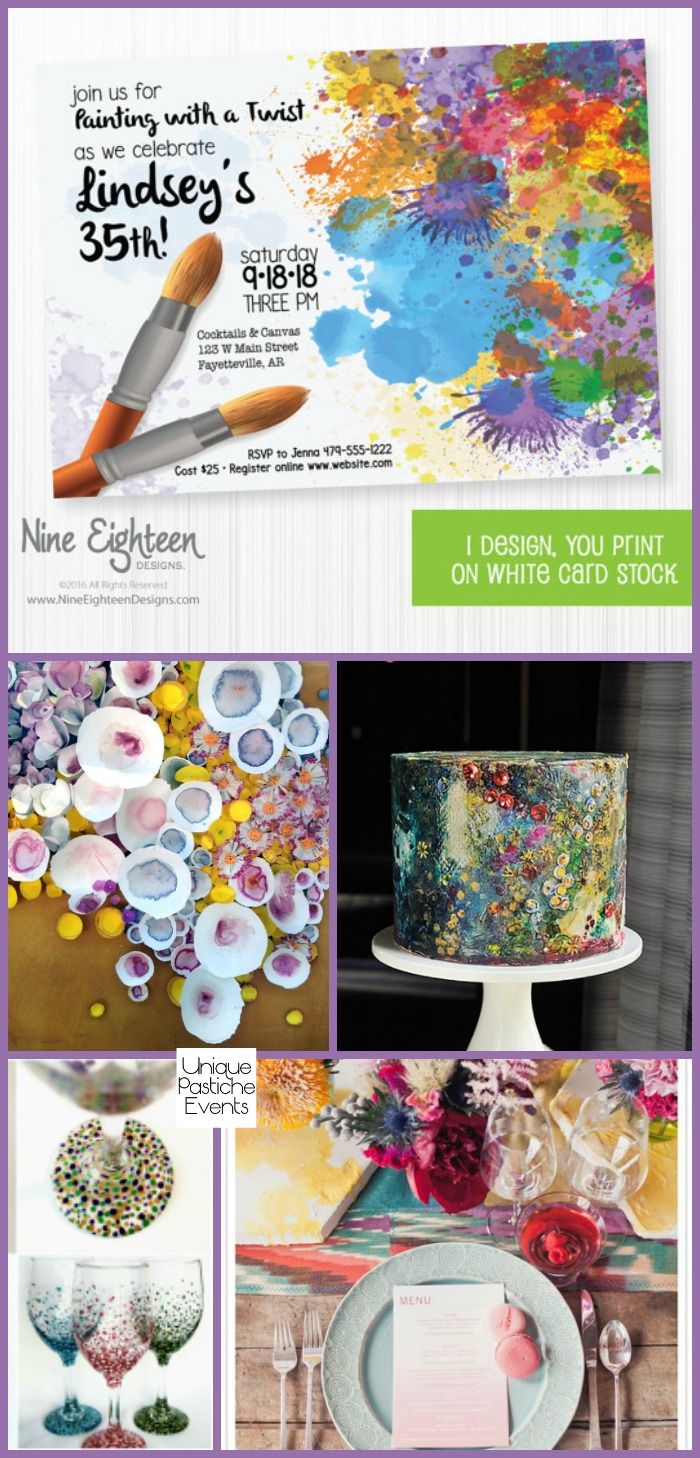 Wine Glass Painting Party Ideas {for National Wine Day} Check out the full post: https://uniquepasticheevents.com/2016/05/25/wine-glass-painting-party-ideas-for-national-wine-day/