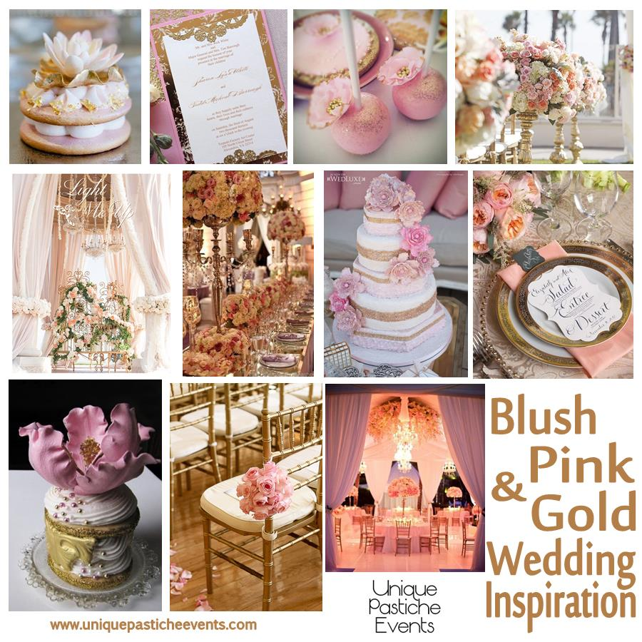 Jackie Fo Champagne Blush And Gold Wedding Inspiration: Unique Pastiche Events