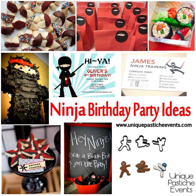 ninja birthday party ideas diy friendly unique pastiche events