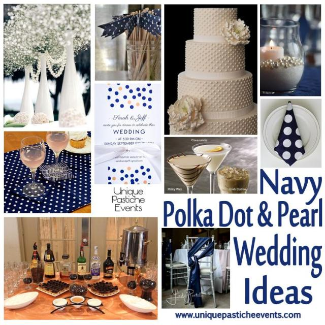 Navy, Polka Dot and Peal Wedding