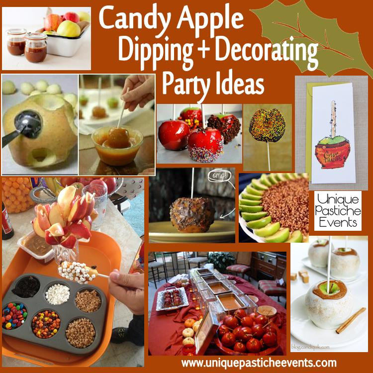 Candy apple dipping decorating party ideas unique for Apples decoration