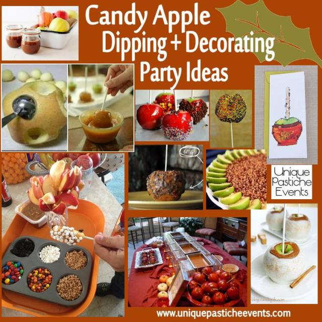 Candy apple dipping decorating party ideas unique for Apple decoration ideas