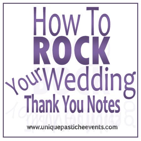 How to ROCK Your Wedding Thank You Notes   Unique Pastiche Events