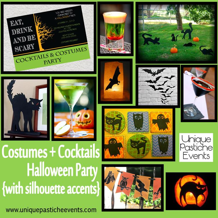 Costumes + Cocktails Halloween Party {with silhouette accents}