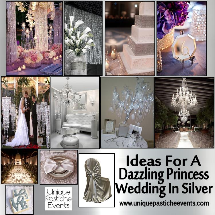 Dazzling Princess Wedding in Silver