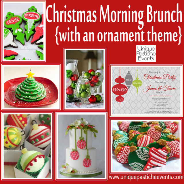 christmas morning brunch ideas with an ornament theme unique pastiche events