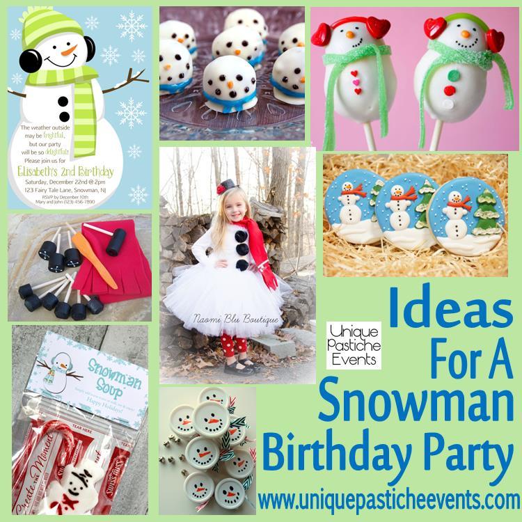 Snowman Birthday Party Ideas