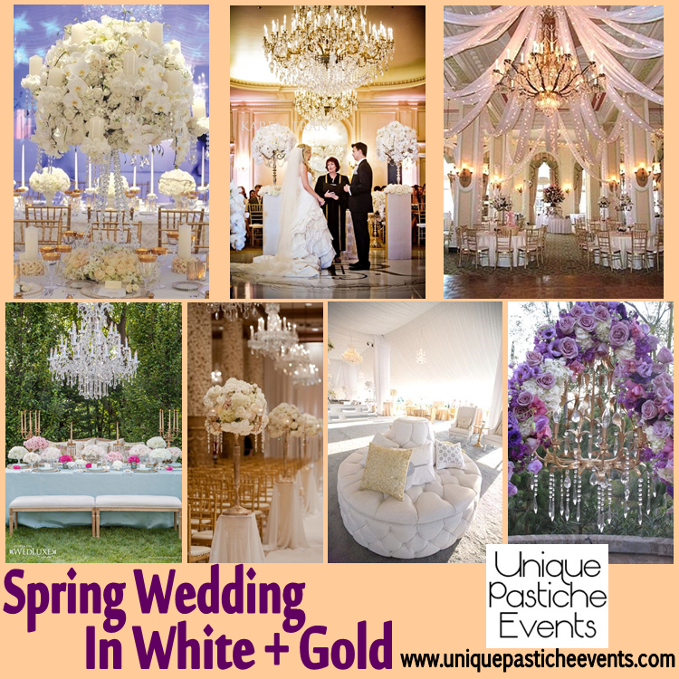 spring and gold wedding inspiration white gold floral unique pastiche events