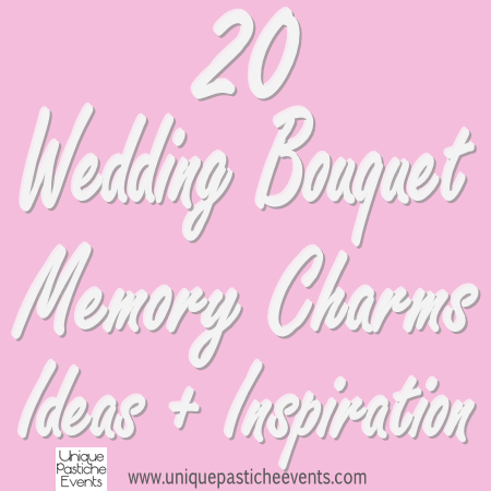 20 Wedding Bouquet Memory Charms Ideas + Inspiration