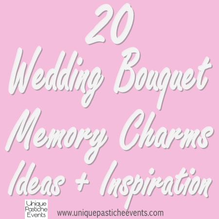 20 Wedding Bouquet Memory Charms Ideas + Inspiration