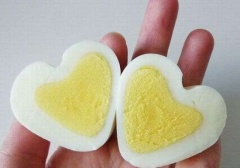 Heart Shaped Boiled Eggs