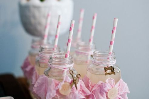 Pink Lemonade Glass Bottles – shared on Occasions here