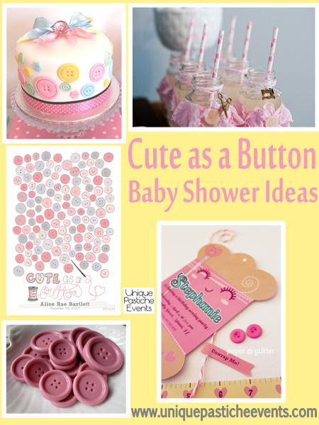 cute as a button baby shower ideas unique pastiche events