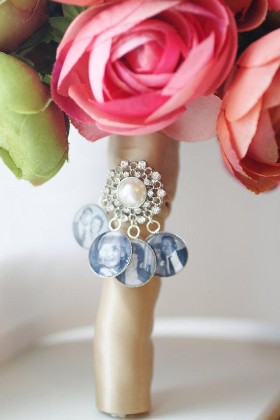 22 wedding bouquet memory charms ideas inspiration