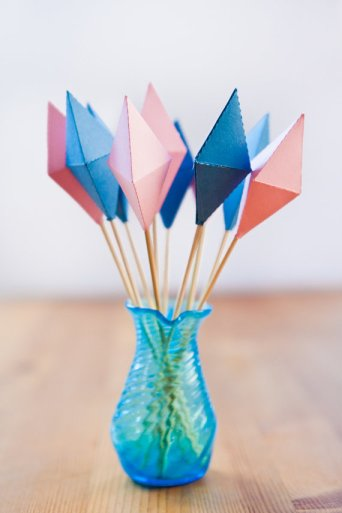 Geometric Diamond Drink Stirrers