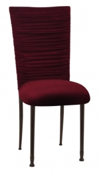 Cranberry Velvet Chair Cover + Cushion – found on Chameleon Chair Collection