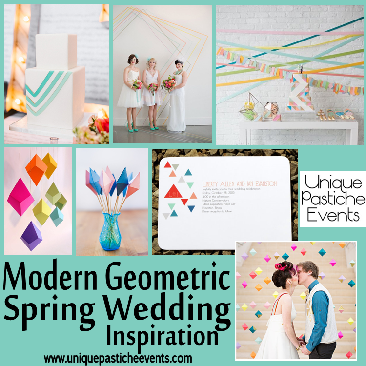 Modern Geometric Spring Wedding Inspiration