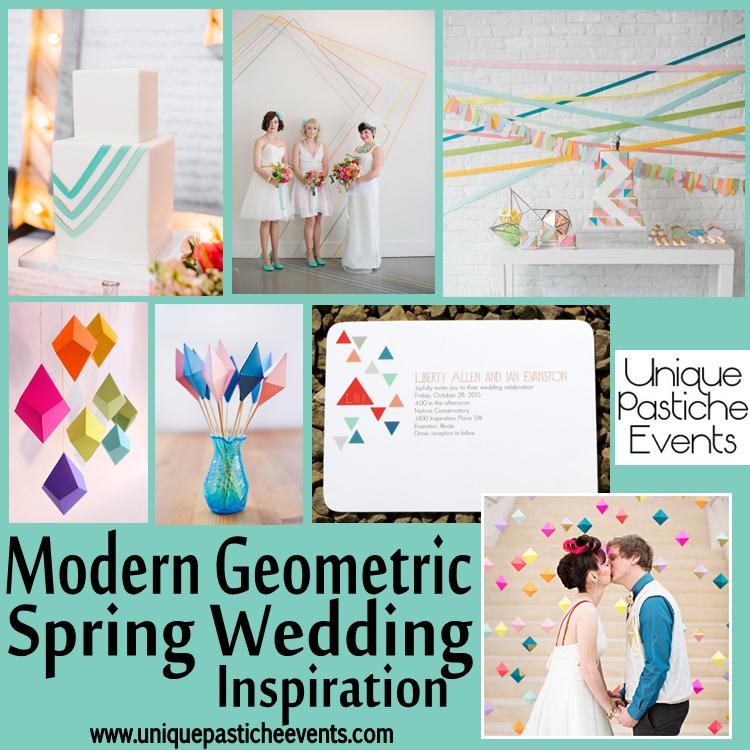 Modern Geometric Spring Wedding Inspiration