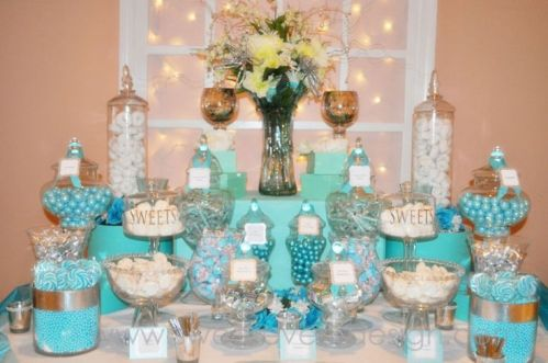 Blue Dessert and Candy Bar