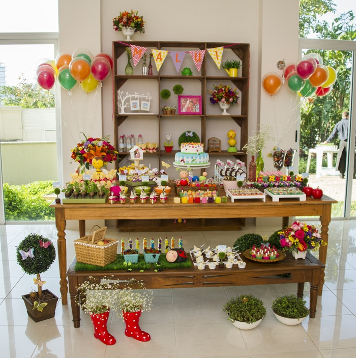 Kids gardening birthday party ideas unique pastiche events sweet designs by amy atlas shared this beautiful garden party spread on their blog workwithnaturefo