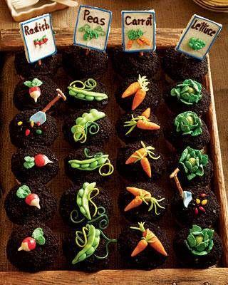 The Stir shared these adorable garden party cupcakes