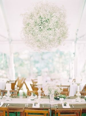 Hanging Baby's Breath Décor (spheres)