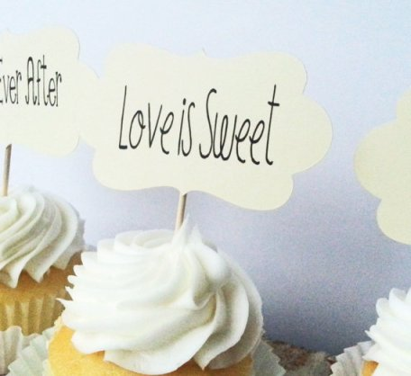 Love is Sweet Cupcake Toppers – made by chocolatecanary on Etsy