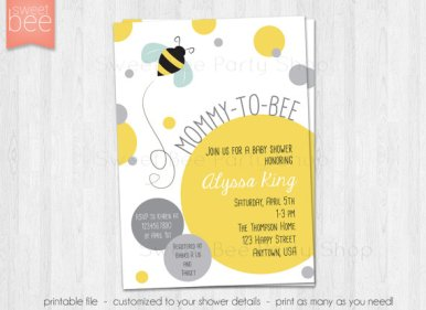 Mommy To Bee Baby Shower Invitation – made by EmAndBeaPaperie on Etsy