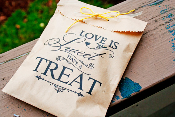 Love Is Sweet Treat Favor Bags – made by mavora on Etsy