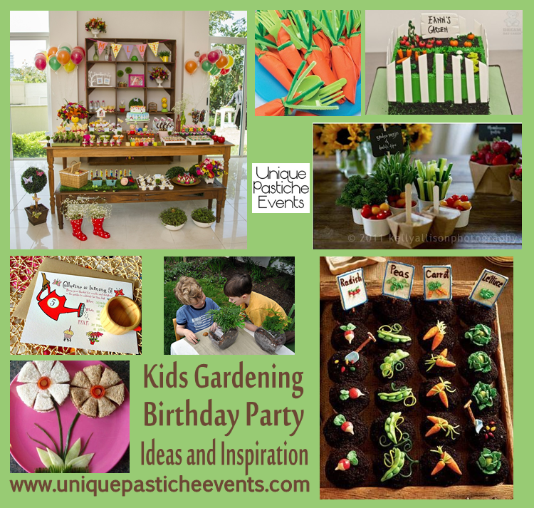 Garden party unique pastiche events Kids garden ideas