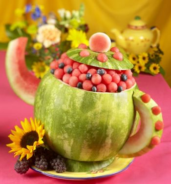 Watermelon Tea Pot (plus instructions) – shared on Watermelon.org