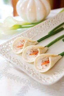 Calla Lily Tea Sandwiches – spotted on Indulgy