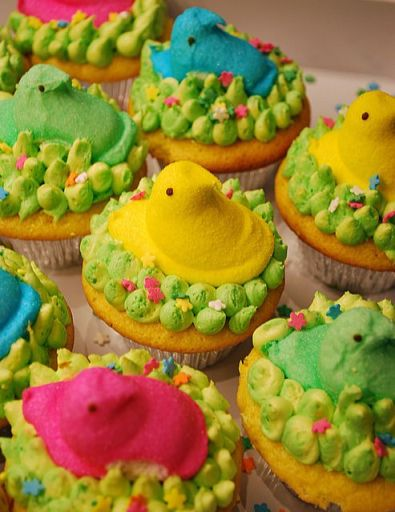 Peeps Cupcakes – shared by Ally Cake Designs on Flickr