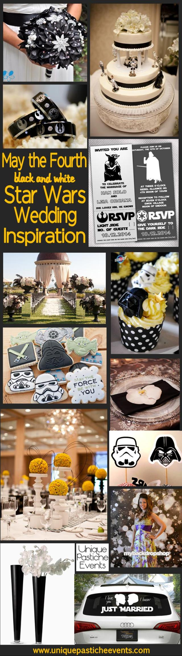 May the Fourth {Black and White} Star Wars Wedding - Inspiration and Ideas