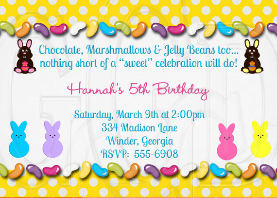 Youre Invited Easter Peeps Birthday Party for Kids – Invitation for the Birthday Party