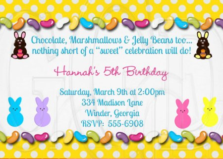 Birthday Invitation with Peeps – made by graciegirldesigns77 on Etsy