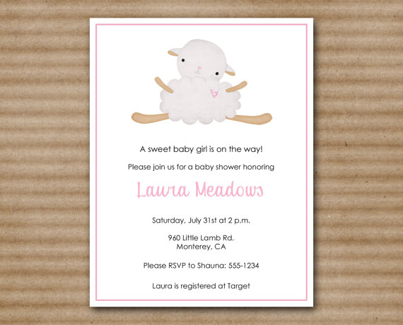 Wonderful Lamb Baby Shower Printable Invitation U2013 Made By PaperHouseDesigns On Etsy