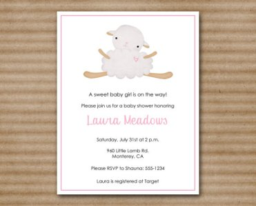 Lamb Baby Shower Printable Invitation – made by PaperHouseDesigns on Etsy