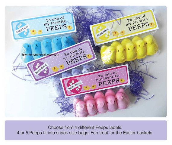 Youre invited easter peeps birthday party for kids unique peeps party favor bag labels made by itswritenonthewall on etsy negle Gallery